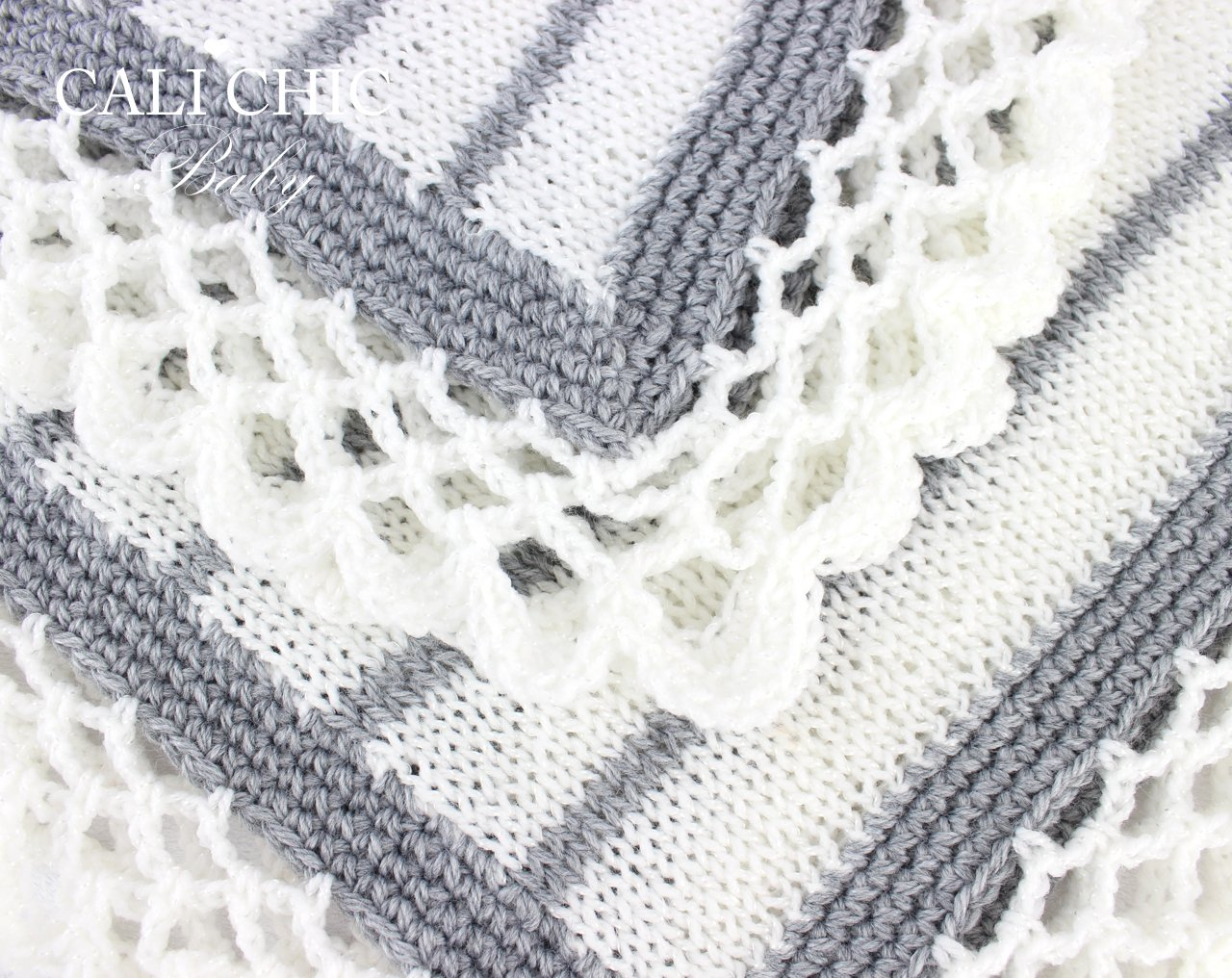 Crystal LaceKnitBaby BlanketPattern 68 | Cali Chic Baby