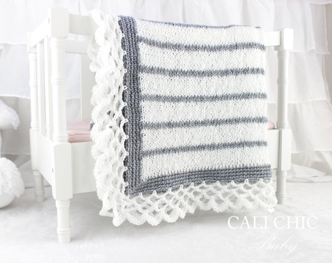 Crystal Laceknitbaby Blanketpattern 68 Cali Chic Baby