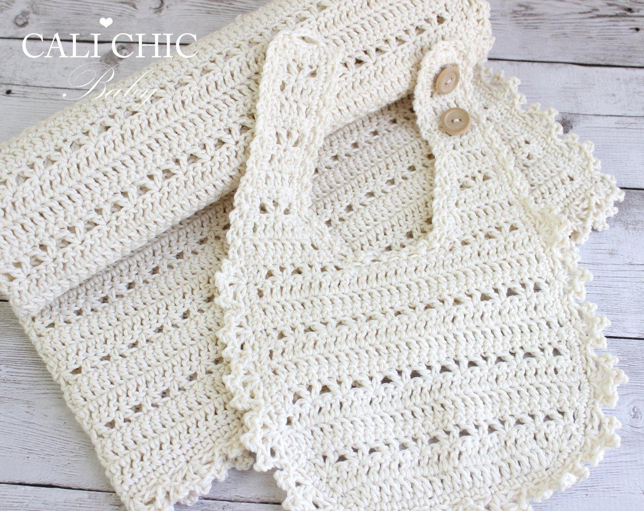 Blossom Setcrochet Babybib Blanketpattern 140 Cali Chic Baby