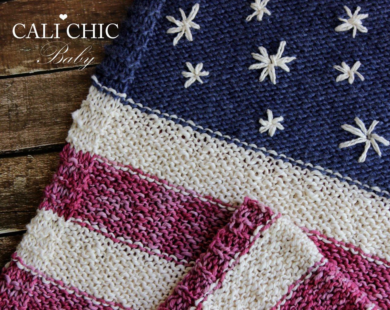 Stars Stripesknitbaby Blanketpattern 76 Cali Chic Baby
