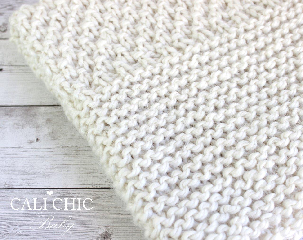 ButtercreamBeginner KnitBaby BlanketPattern 102 | Cali Chic Baby