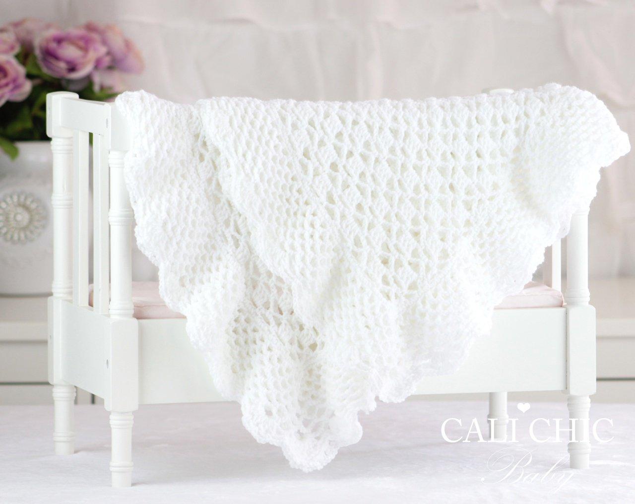 e11af16cc47b4 Grace, Crochet, Baby Blanket, Pattern 149 (wht)