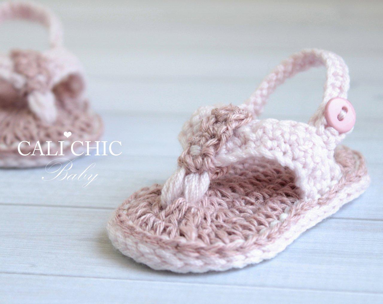 Malibu BabyCrochet Flip FlopBaby ShoesPattern 312 | Cali Chic Baby